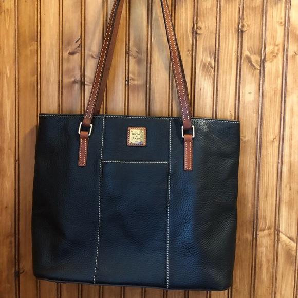 Dooney & Bourke Handbags - Dooney & Bourke Lexington Shopper black pebble